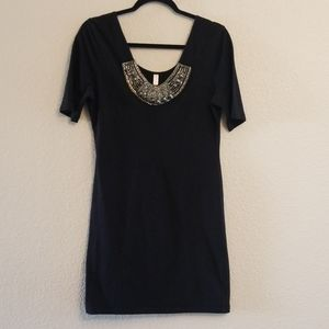 Dress with silver embellishments